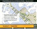 Vorentwurf I mit den Parkmöglichkeiten, die dieser bietet und sein Schwachpunkten
