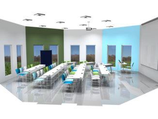 So werden die neuen Hörsäle am CSB.Campus in Geilenkirchen aussehen.