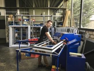 3.Dennis van der Zander stellte bei der Metallbau Schuler GmbH & Ko KG sein handwerkliches Geschick unter Beweis.