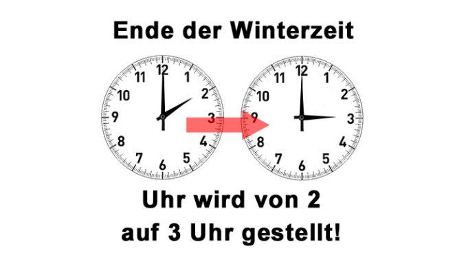 Sommerzeit Beginnt Die Uhr Wird Von Zwei Auf Drei Uhr Vorgestellt